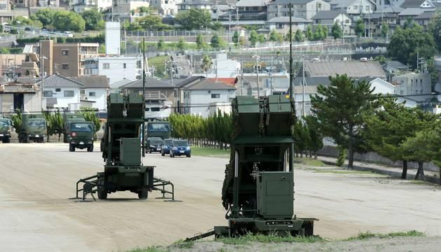 Foto del sistema antimisiles en la base de Kaita de Japón.