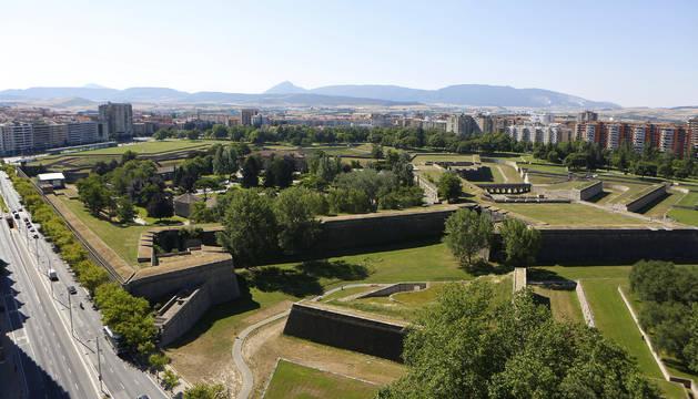 Una vista general de la Ciudadela de Pamplona.