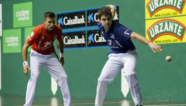 Urrutikoetxea en el Torneo de parejas de San Fermín.