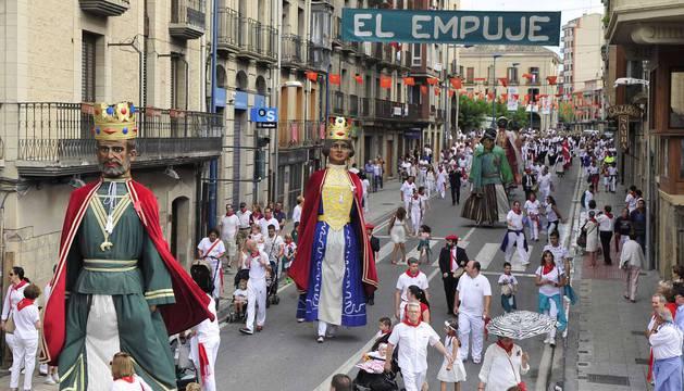 Imágenes del día grande de las fiestas de Tafalla, en honor a la Virgen de la Asunción.