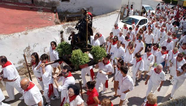 Imágenes de la procesión de San Roque.