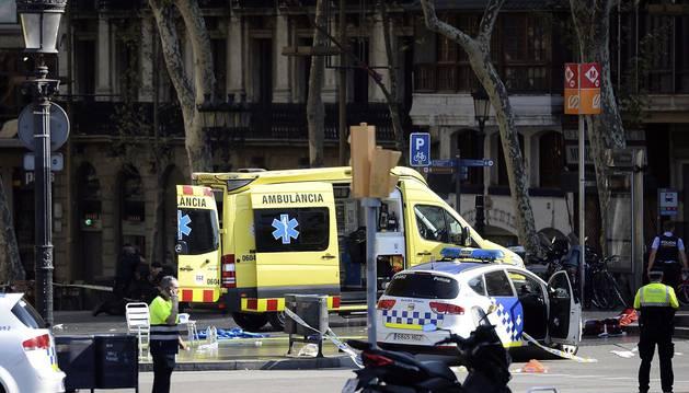 atropello masivo por una furgoneta en las Ramblas de Barcelona