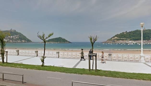 La playa de La Concha en Donosti