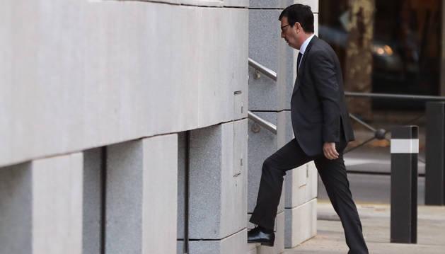 El juez de la Audiencia Nacional Fernando Andreu, a su llegada a la Audiencia Nacional.