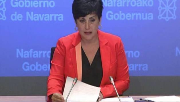 La consejera de Educación, María Solana, ayer tras la sesión de Gobierno.