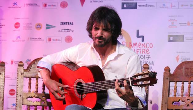 Imagen de Juan Habichuela nieto en la presentación del festival Flamenco On Fire.