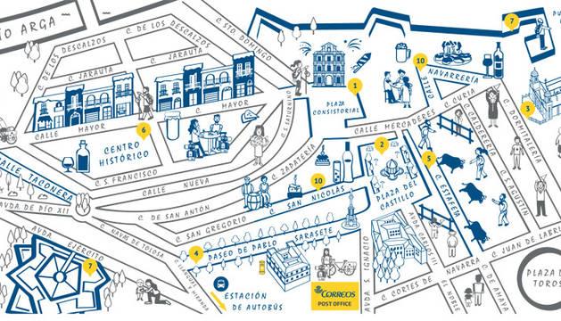 correos edita un mapa que anima a los peregrinos a