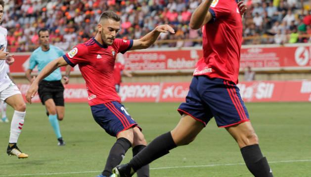 Imagen de Roberto Torres durante el partido de este sábado.