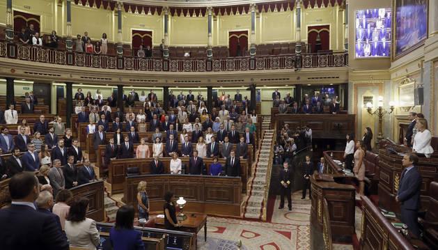El Congreso de los Diputados ha guardado hoy un minuto de silencio antes de comenzar el pleno extraordinario sobre Gürtel.