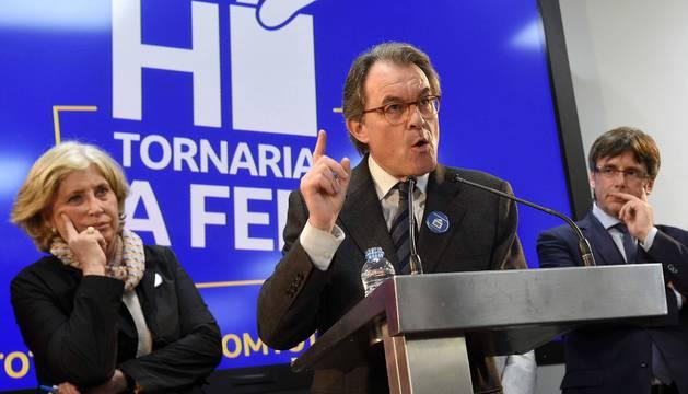 Artur Mas con Puigdemont en marzo de 2017