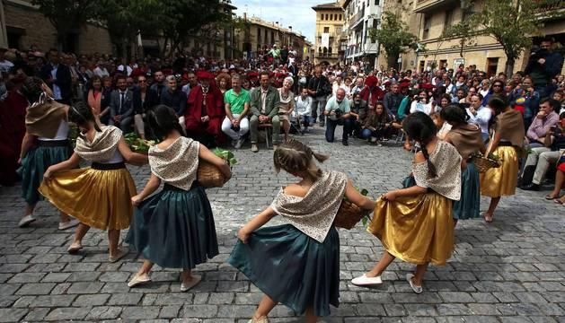 Imágenes de esta tradición celebrada en la capital del vino navarro.