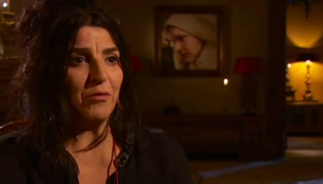 Imagen de Lita Cabellut en una entrevista con RTVE: