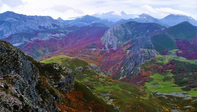 Imagen del Parque de Redes, en Asturias, donde José Díaz vivió aislado durante 100 días.