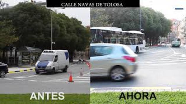 El antes y el ahora de los cambios de tráfico en Pamplona