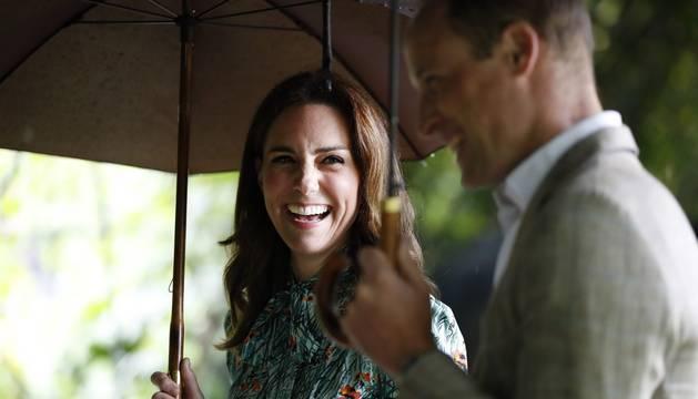 La duquesa de Cambridge, Catalina Middleton, y el príncipe Guillermo de Inglaterra.