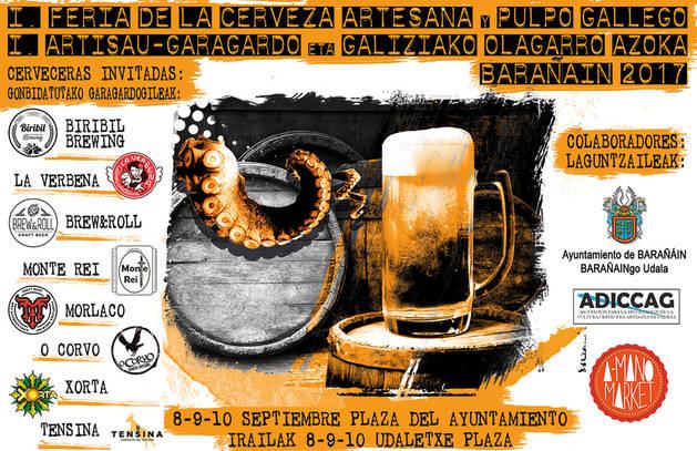 La cerveza artesana y el pulpo gallego serán protagonistas en Barañáin del 8 al 10 de septiembre