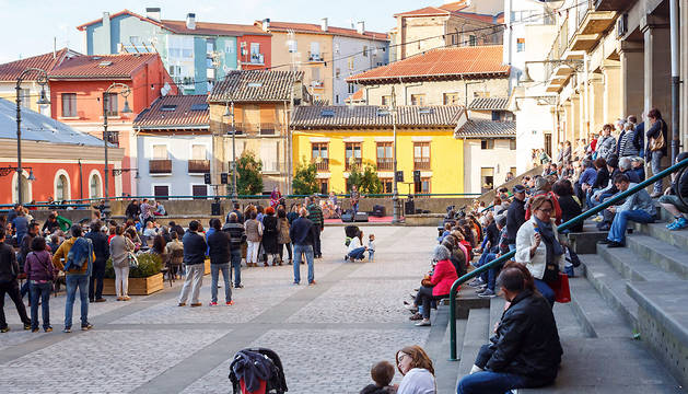 Un concierto en la plaza de los Burgos el pasado mes de agosto.