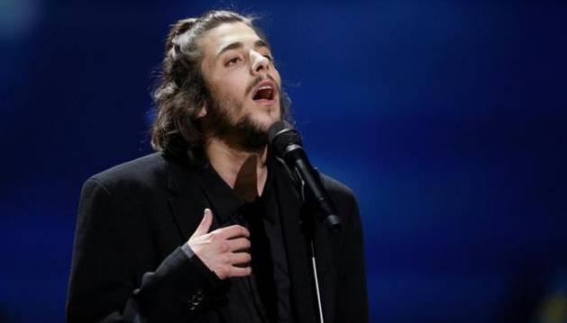 Foto de Salvador Sobral, en Eurovisión.