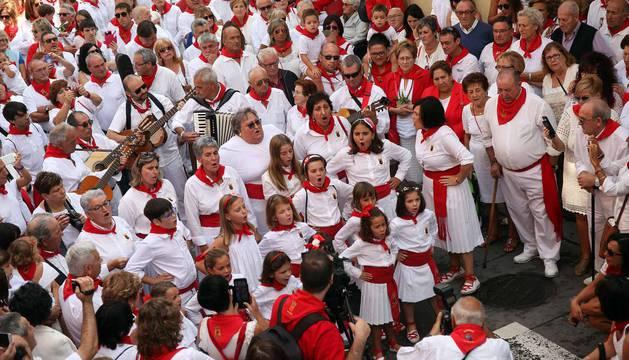 Imágenes de la procesión de la Virgen de la Paz de las fiestas de Cintruénigo