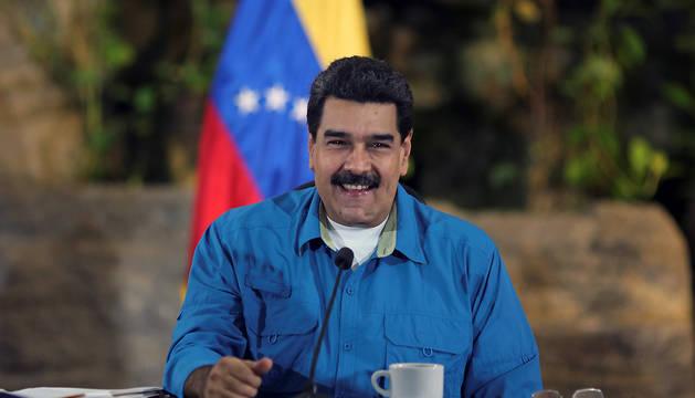 Nicolás Maduro, durante el anuncio.