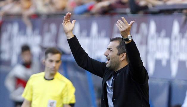 Diego Martínez en un partido anterior