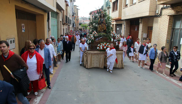 Fotos de la procesión de la Virgen de la Barda en fiestas de Fitero 2017.