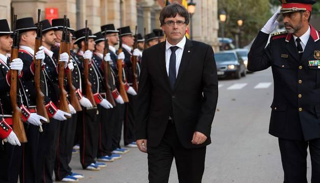 Foto de Carles Puigdemont, presidente de la Generalitat.