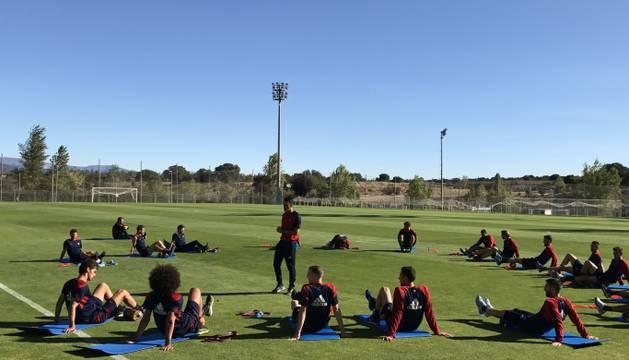Imagen del entrenamiento de Osasuna en Las Rozas.