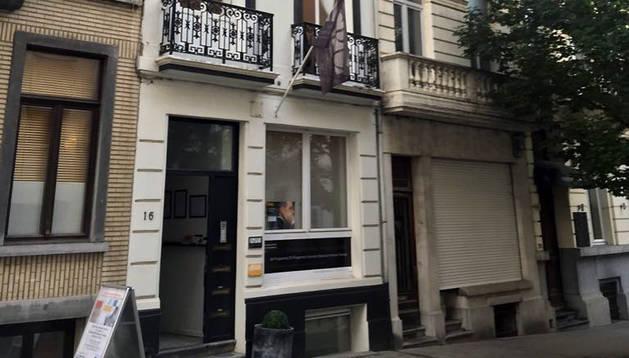 Exterior de la oficina de Navarra en Bruselas.