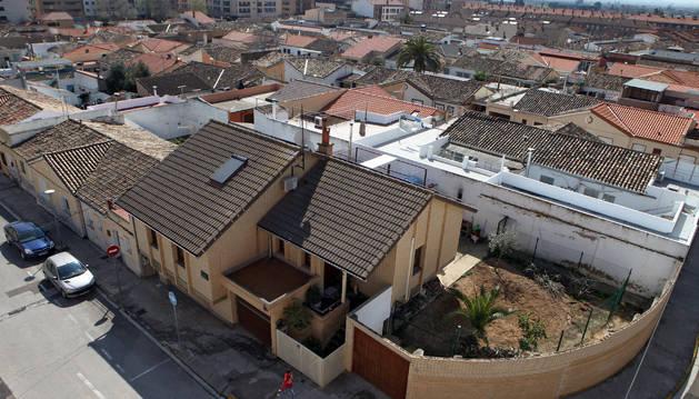Vista panorámica de una zona de viviendas del barrio de Lourdes.