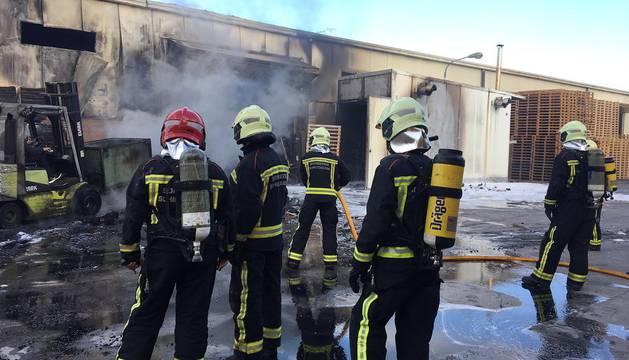 Incendio en una empresa de Gazólaz