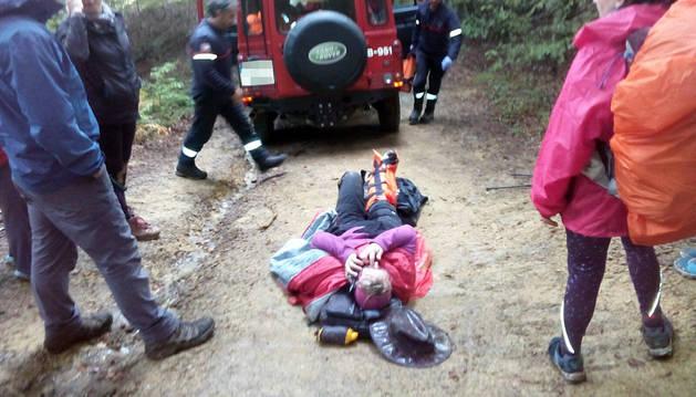 Evacuadas dos peregrinas extranjeras tras accidentarse en el Camino de Santiago
