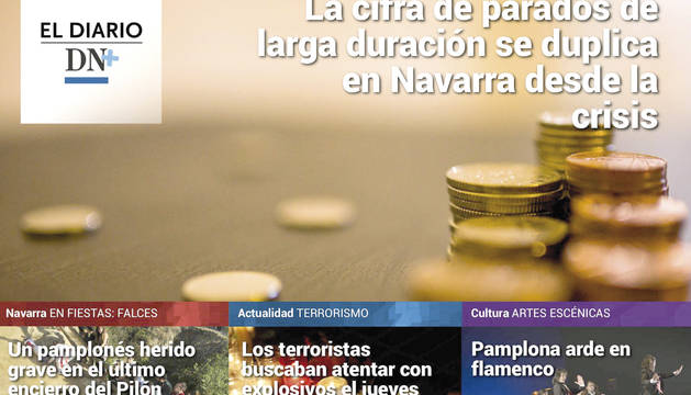 Foto de una de las portadas de El Diario DN+.