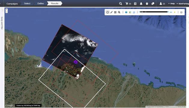 Gestor de vertidos con imágenes satelitáles