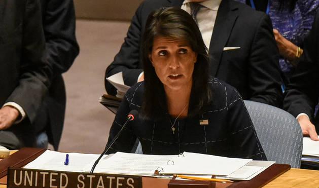 Foto de la embajadora de Estados Unidos ante Naciones Unidas, Nikki Haley,