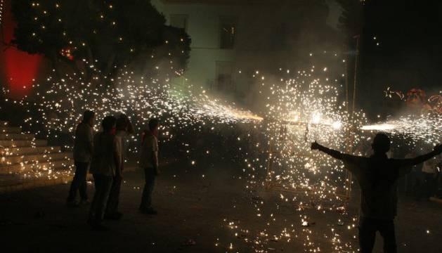 Heridos 13 menores por quemaduras en los toros de fuego de Guadalajara