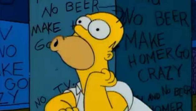 Homer pierde la cabeza