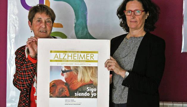 Aurora Lozano, presidenta de AFAN, y Victoria Erice, trabajadora social.