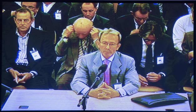 Vista del juicio contra la excúpula de Fórum Filatélico, entre ellos su expresidente Francisco Briones.