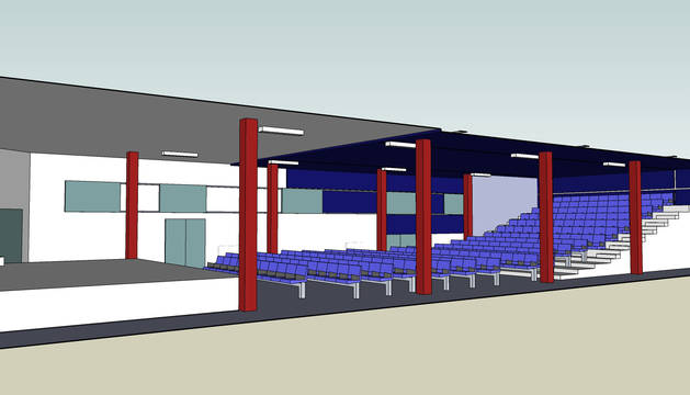 Recreación virtual del nuevo centro cultural que se construirá en el gimnasio del colegio público.