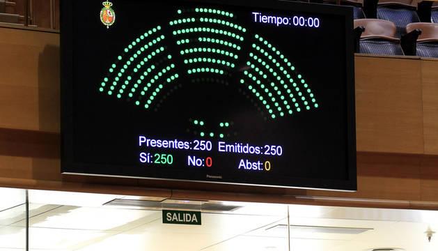 Votación en el pleno del Senado.