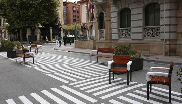 Mobiliario urbano para la nueva calle peatonal General Chinchilla de Pamplona