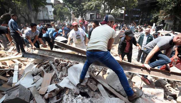 Galería de fotos del terremoto de 7,1 en la Ciudad de México