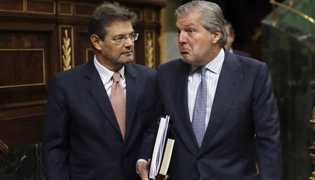 Los ministros Rafael Catalá e Íñigo Méndez de Vigo