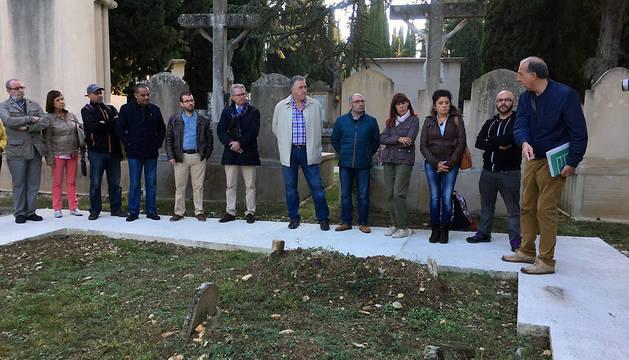 La visita al cementerio de Pamplona, este miércoles