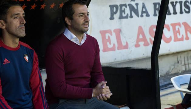 Diego Martínez durante el partido de Liga contra el Rayo