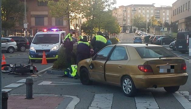 El accidente de un motorista ocurrido en Azpilagaña