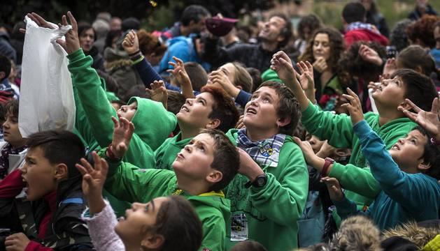 Cohete de fiestas de San Fermín Txikito 2017