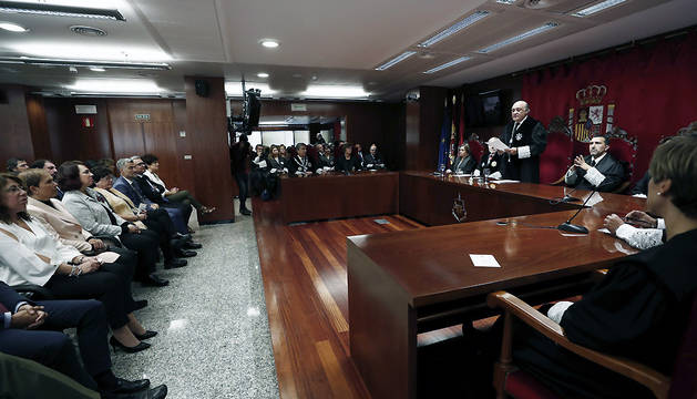 El presidente del TSJN, Joaquín Galve, en la apertura del año judicial en Navarra.