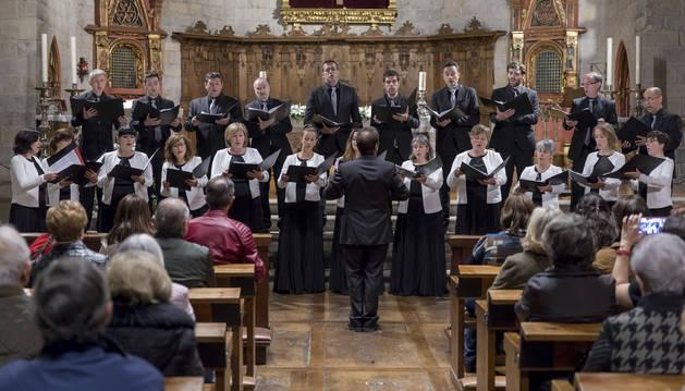 Foto de la Coral de Cámara de Pamplona, en el concierto solidario del año pasado.